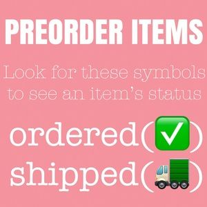 Other - *Preorder section below*